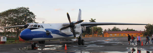 Airplane from Aerogaviota at the Airport of Playa Baracoa, Habana