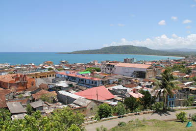 View over Baracoa from the Hotel Castillo