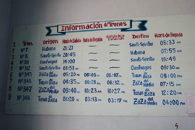 train timetable Sancti Spiritus