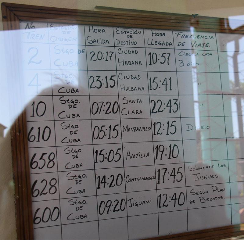 Transport In Cuba Viazul Timetable 2018 Train Timetable