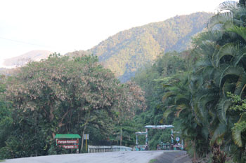 Entry to the national park at Santo Domingo